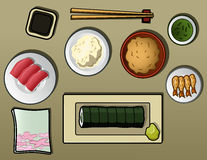 Repas japonais photos libres de droits