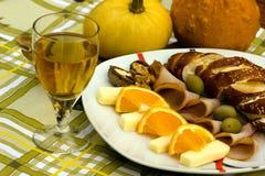 Repas méditerranéen Photographie stock