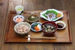 Repas réglé de Japonais Photos libres de droits