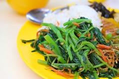 Repas réglé de végétarien en bonne santé Photo libre de droits