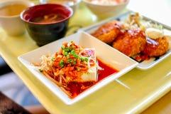Repas réglé du Japon Tufu Kimji Image stock