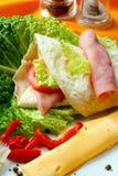 Repas sain d'été, c grillé Images stock