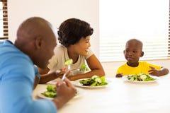 Repas sain de famille africaine Photo libre de droits