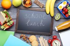 Repas scolaire images libres de droits