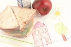 Repas scolaire Photographie stock libre de droits
