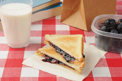 Repas scolaire Images stock