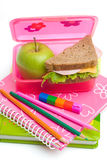 Repas scolaire Photographie stock
