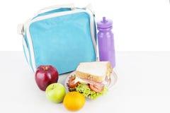 Repas scolaire pour l'enfant photo libre de droits