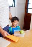 Repas scolaire sain photo libre de droits