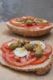 Repas simple, sain et nutritif Photographie stock libre de droits