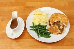 Repas sur le dessus de table Images stock