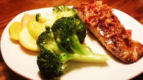 Repas sur un plat Photo libre de droits