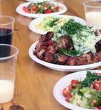 Repas sur une table Photographie stock libre de droits