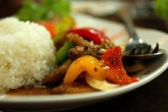 Repas thaï image libre de droits