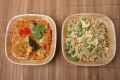 Repas thaï de cari et de riz Images libres de droits
