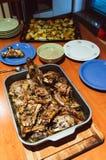 Repas traditionnel d'agneau de Pâques Image libre de droits