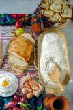 Repas traditionnel roumain photographie stock