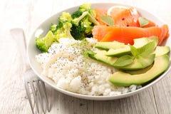 Repas végétarien de cuvette photographie stock