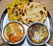 Repas végétarien indien Images libres de droits