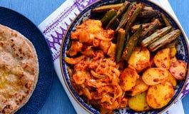 Repas végétarien indien - plat principal indien du nord Image libre de droits