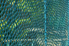 Repassez la texture d'une vieille grille bleue de la clôture Photo libre de droits