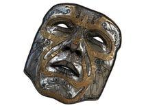 Repassez le masque avec des biseaux d'ornement et d'or sur un fond blanc d'isolement illustration 3D Photographie stock libre de droits