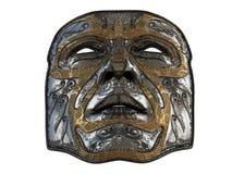 Repassez le masque avec des biseaux d'ornement et d'or sur un fond blanc d'isolement illustration 3D Photographie stock