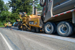 Repaving residential street Stock Photography