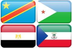 República Congo do Dem, Djibouti, Egipto, Eq. Guiné Imagem de Stock