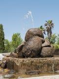 repbulic中央chishinau详细资料喷泉摩尔多瓦的公园 免版税库存照片
