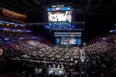 2015 repêchage de la ligue nationale de hockey - Zachary Werenski - Columbus Blue Jackets Images libres de droits