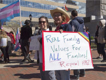 Repeal HB2 Sign At LGBT Rally Royalty Free Stock Image