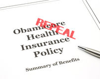 Repeal Stamped on Obamacare Stock Photography
