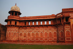 Repeat arch wall at agra fort india Stock Image