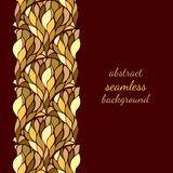 Repeat Background With Golden Flowing Pattern Royalty Free Stock Images