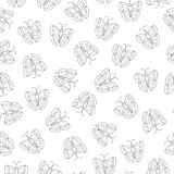 Vector seamless pattern of black and white insects royalty free illustration