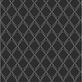 Repeat  black and white geometric abstract background Stock Photos