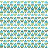 Repeat blue and neutral geometric abstract, triangle background. Vector pattern,fabric print design, seamless creative geometric triangle, background Stock Images