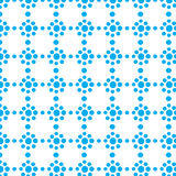 Repeat dot blue geometric color dots circles flower abstract vector pattern Stock Photography