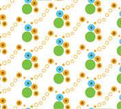 Repeat dot foot bubbles color vector pattern white background Royalty Free Stock Photo