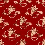 Repeat floral pattern in a seamless design Stock Image