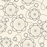 Repeat floral sample Stock Photo