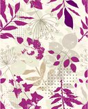 Repeat floral sample Royalty Free Stock Image