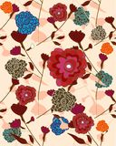 Repeat floral sample Royalty Free Stock Images