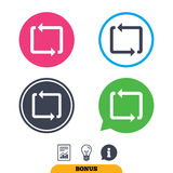 Repeat icon. Loop symbol. Refresh sign. Royalty Free Stock Images