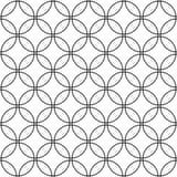 Repeat monochromatic circle pattern background. Repeat monochromatic vector circle pattern design background Stock Photo