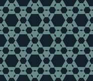Repeat ornament texture with hexagons, hexagonal grid. stock illustration