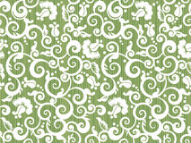 Repeat pattern. Floral white and green repeat pattern, or seamless wallpaper, else tilable background stock illustration