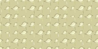 Leaves and lines seamless background pattern Stock Photo
