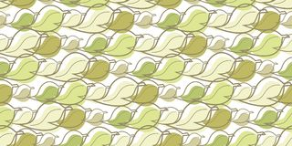 Leaves and lines seamless background pattern Stock Images